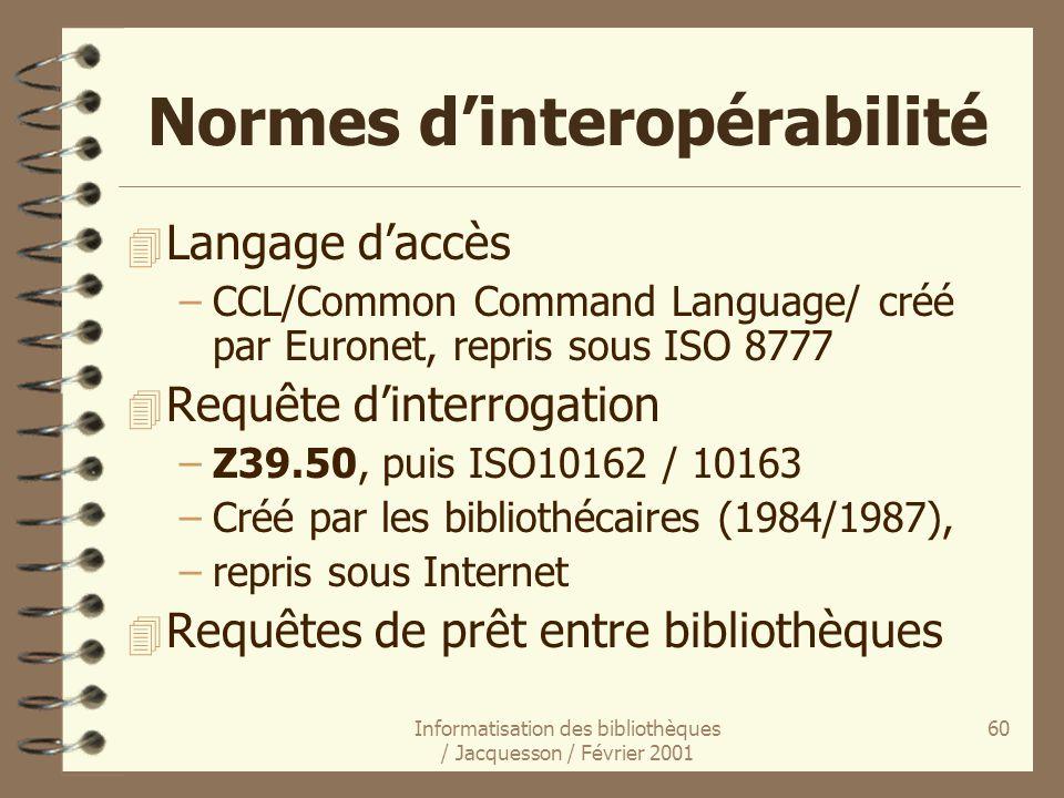 Normes d'interopérabilité