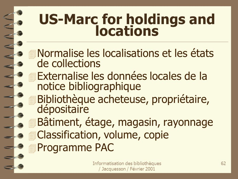 US-Marc for holdings and locations