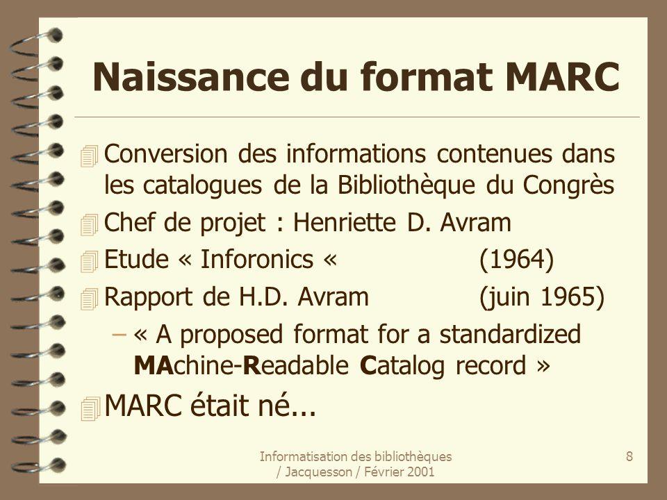 Naissance du format MARC