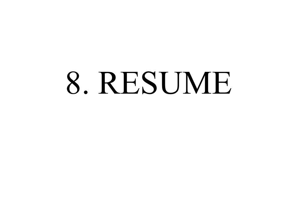 8. RESUME