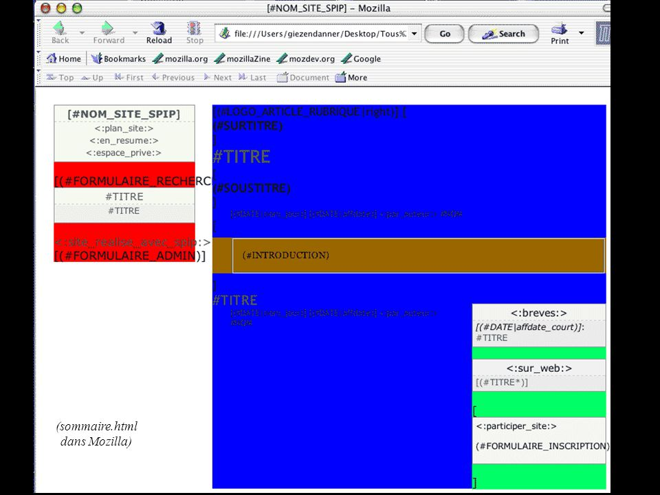 (sommaire.html dans Mozilla)