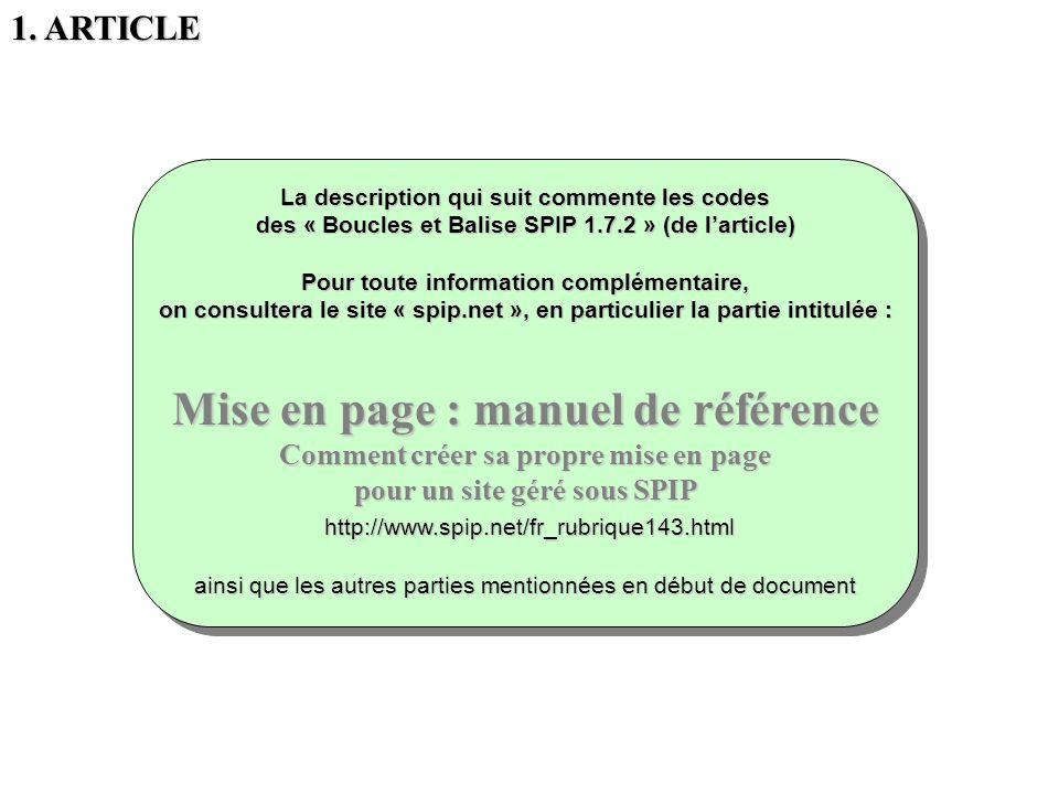 Mise en page : manuel de référence