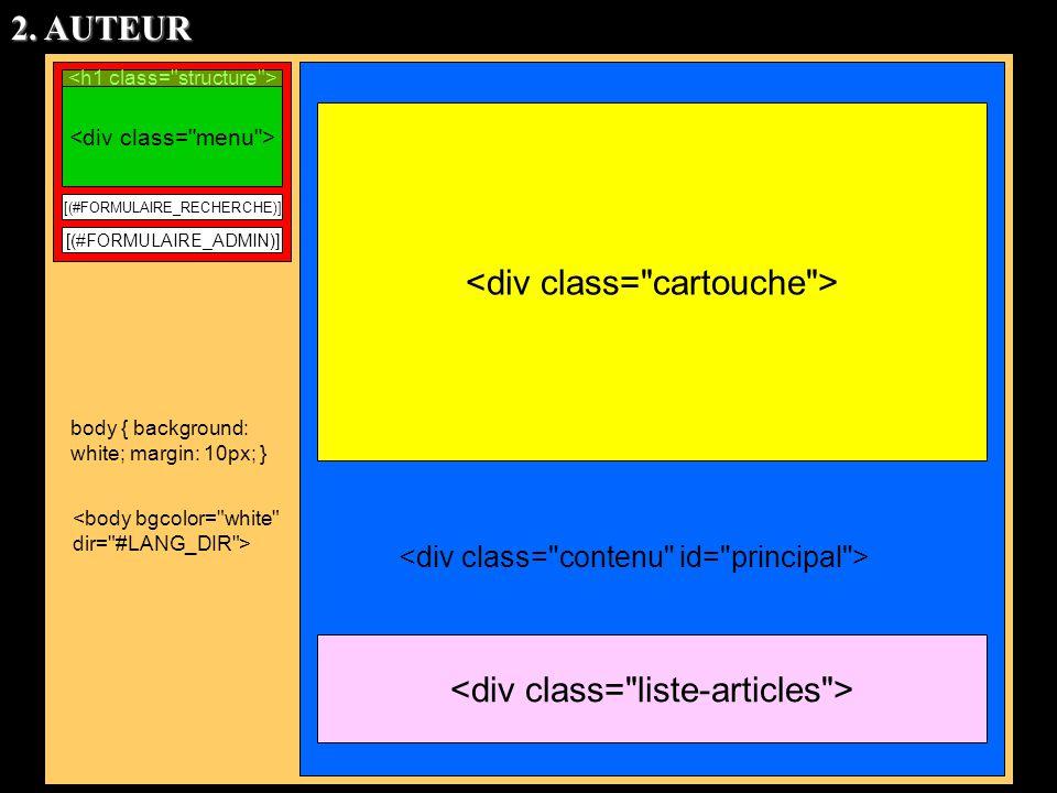 <div class= liste-articles > <div class= cartouche >