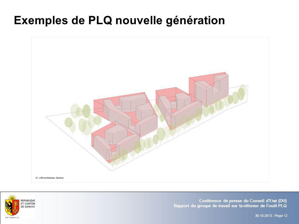 Exemples de PLQ nouvelle génération