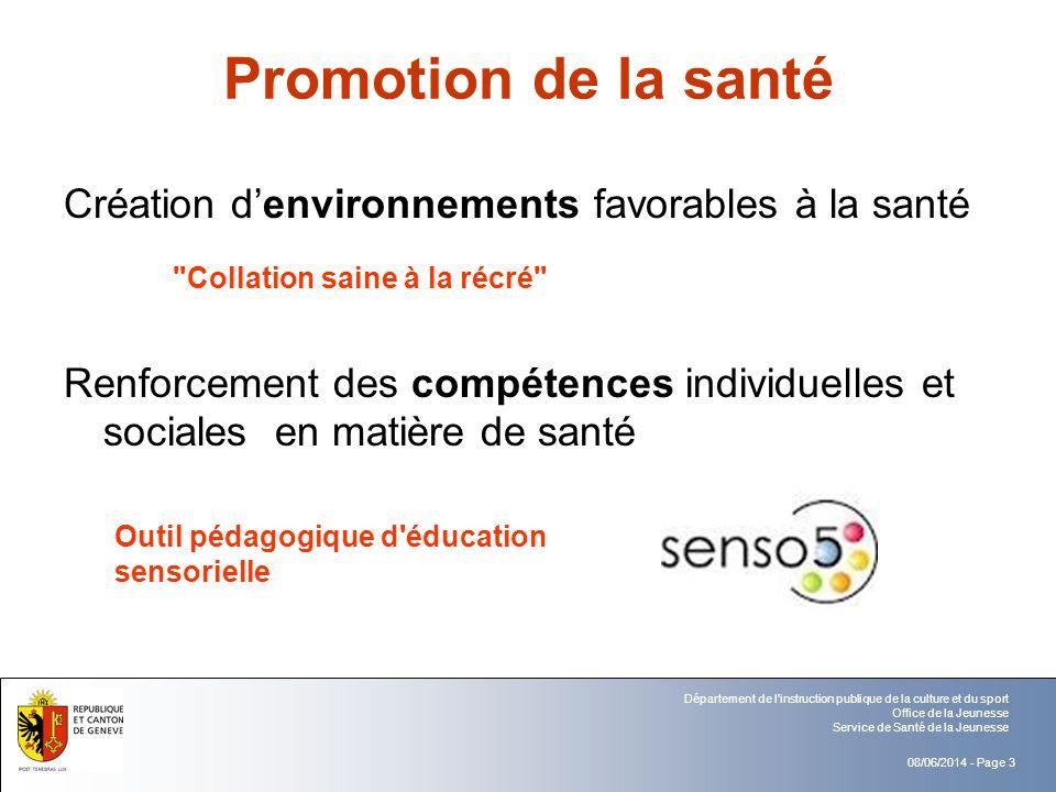 Promotion de la santé Création d'environnements favorables à la santé