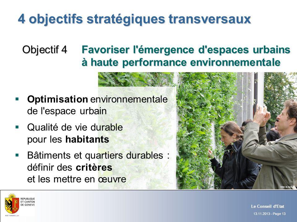 4 objectifs stratégiques transversaux
