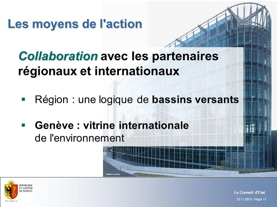 Collaboration avec les partenaires régionaux et internationaux