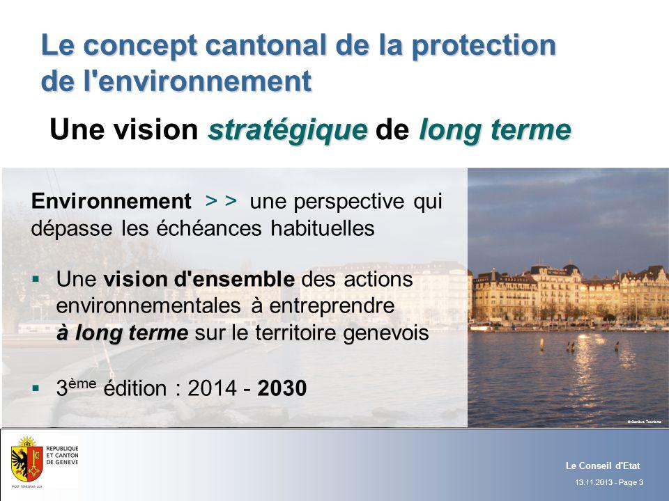 Le concept cantonal de la protection de l environnement