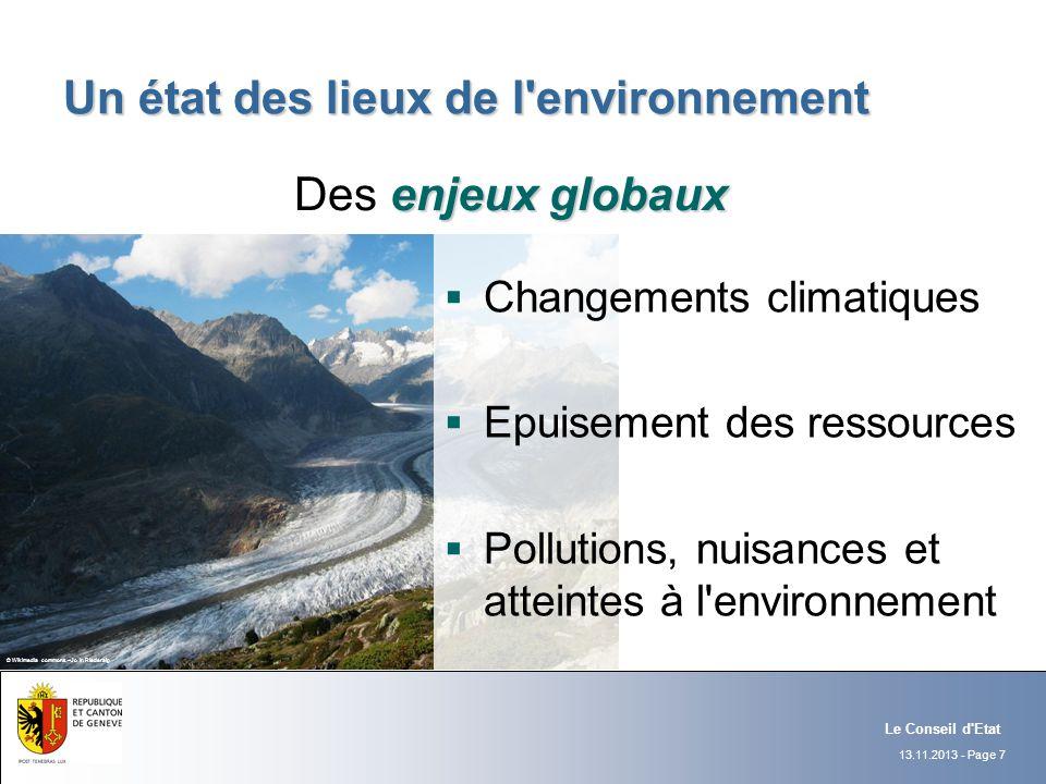 Un état des lieux de l environnement