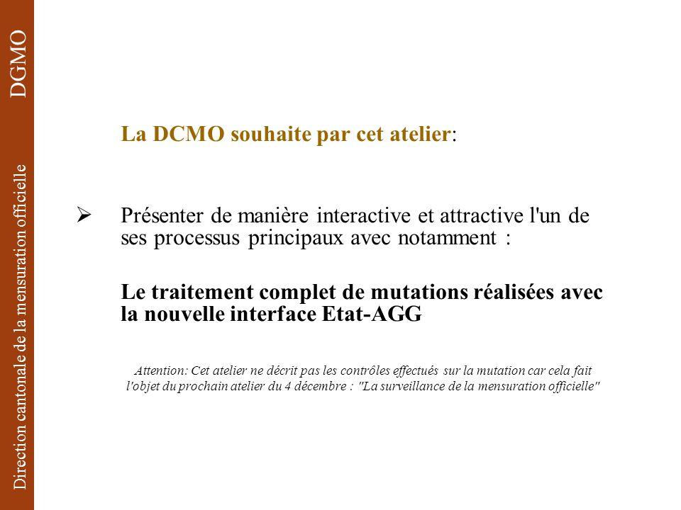 La DCMO souhaite par cet atelier: