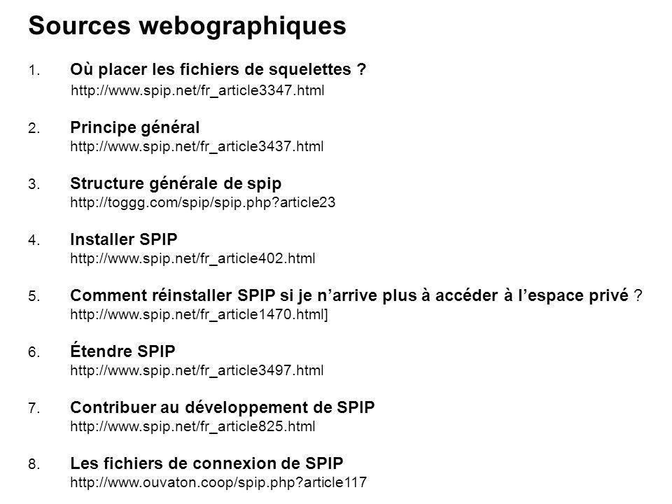 Sources webographiques