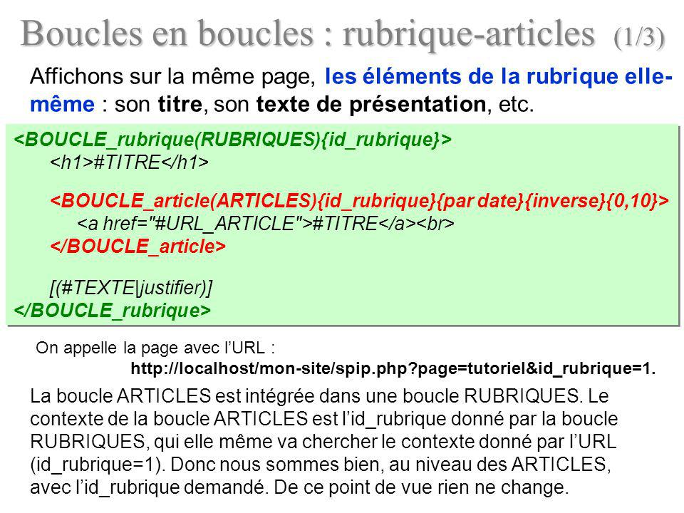 Boucles en boucles : rubrique-articles (1/3)
