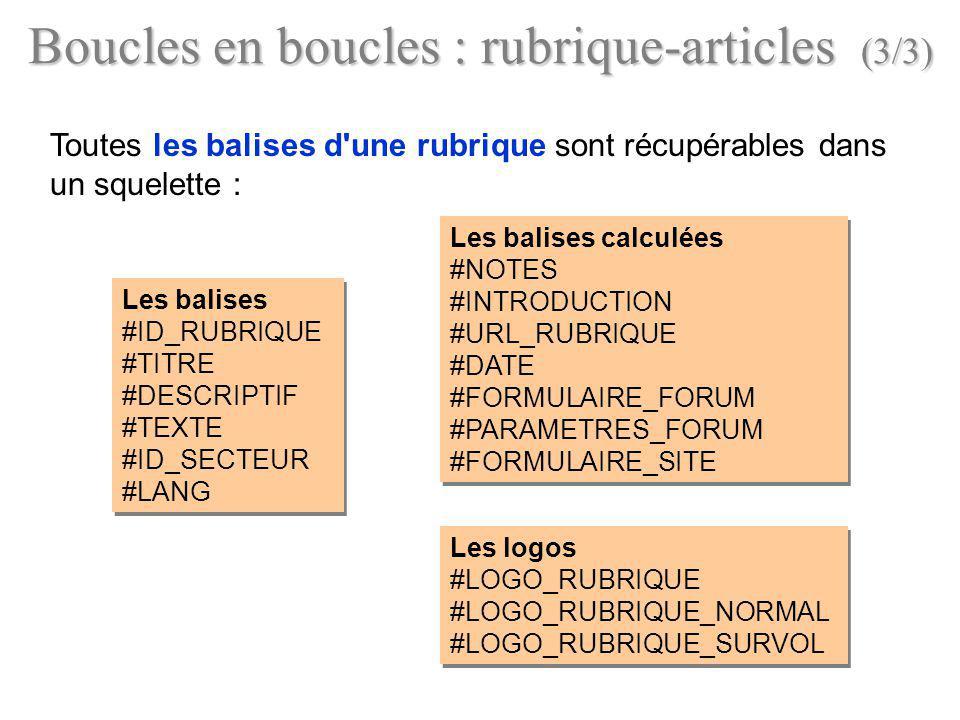 Boucles en boucles : rubrique-articles (3/3)