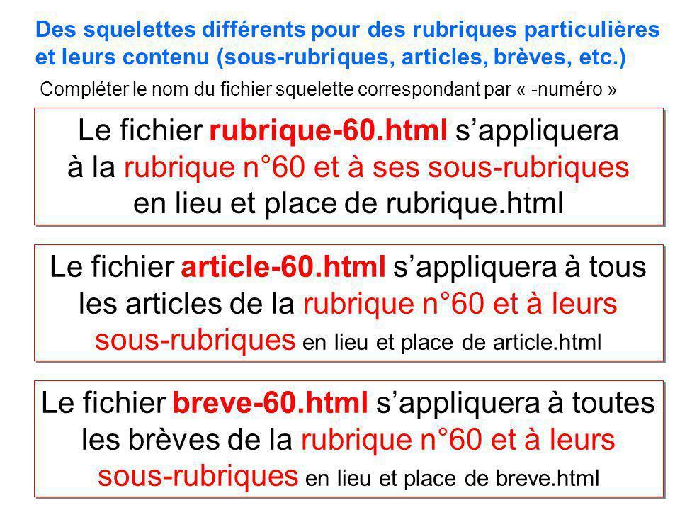 Le fichier rubrique-60.html s'appliquera