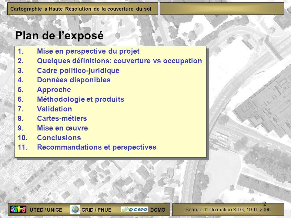 Plan de l'exposé Mise en perspective du projet