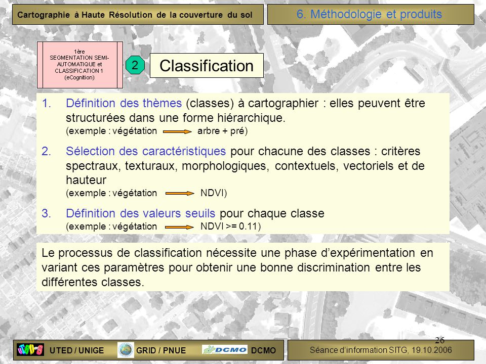 Classification 6. Méthodologie et produits 2