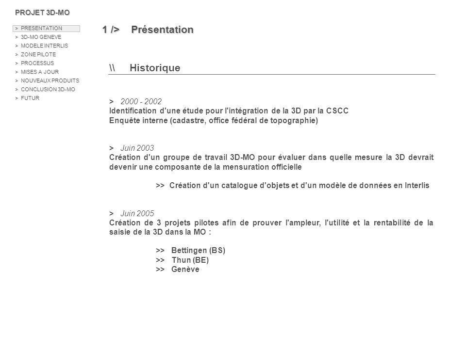 1 /> Présentation \\ Historique > 2000 - 2002
