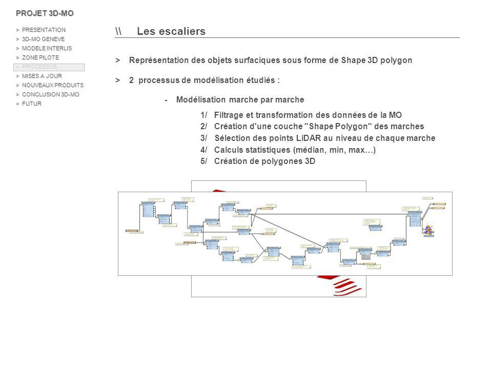PROJET 3D-MO > PRESENTATION. > 3D-MO GENEVE. > MODELE INTERLIS. > ZONE PILOTE. > PROCESSUS.