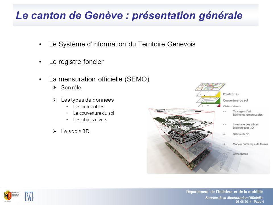 Le canton de Genève : présentation générale