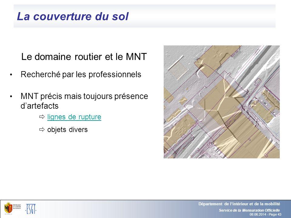Le domaine routier et le MNT