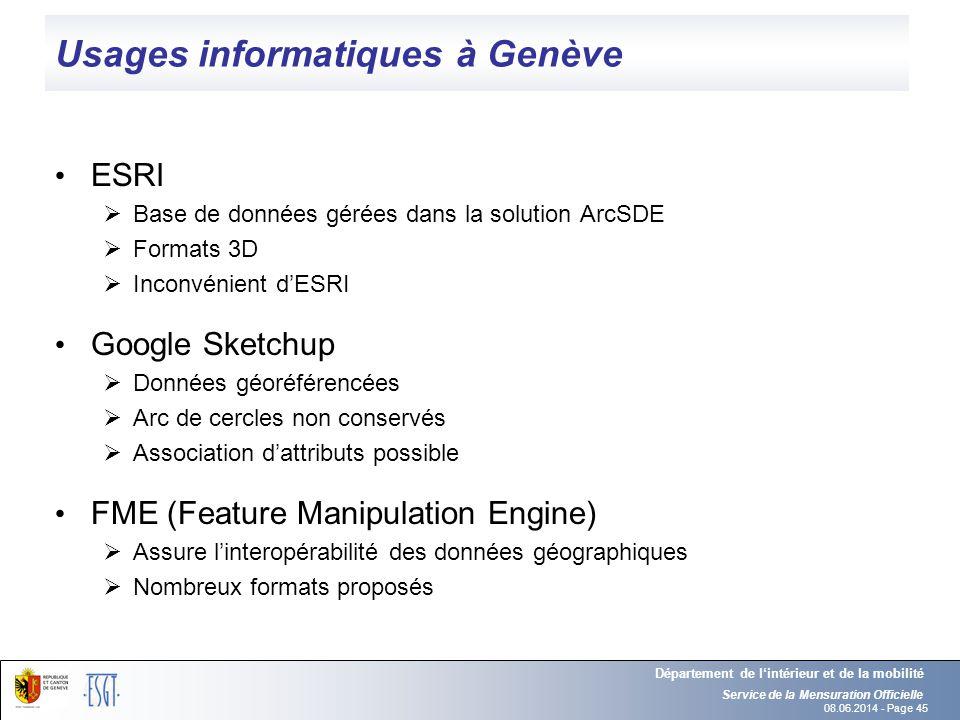 Usages informatiques à Genève