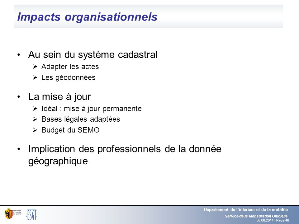 Impacts organisationnels