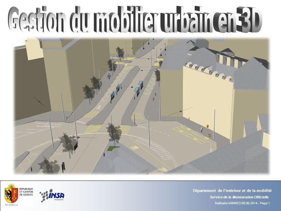 Gestion du mobilier urbain en 3D