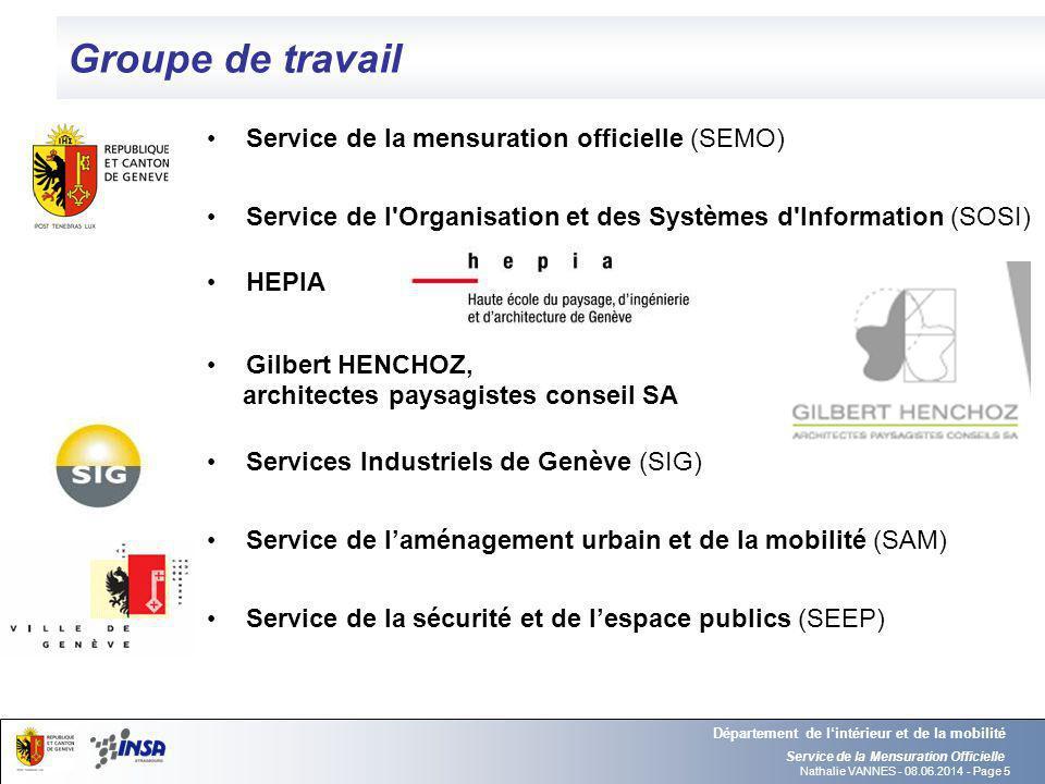 Groupe de travail Service de la mensuration officielle (SEMO)