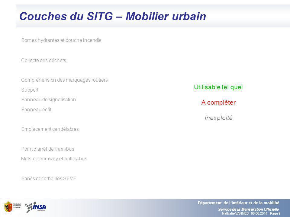 Couches du SITG – Mobilier urbain