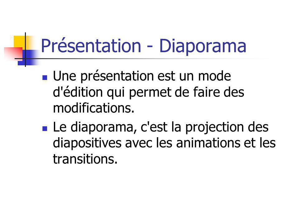 Présentation - Diaporama