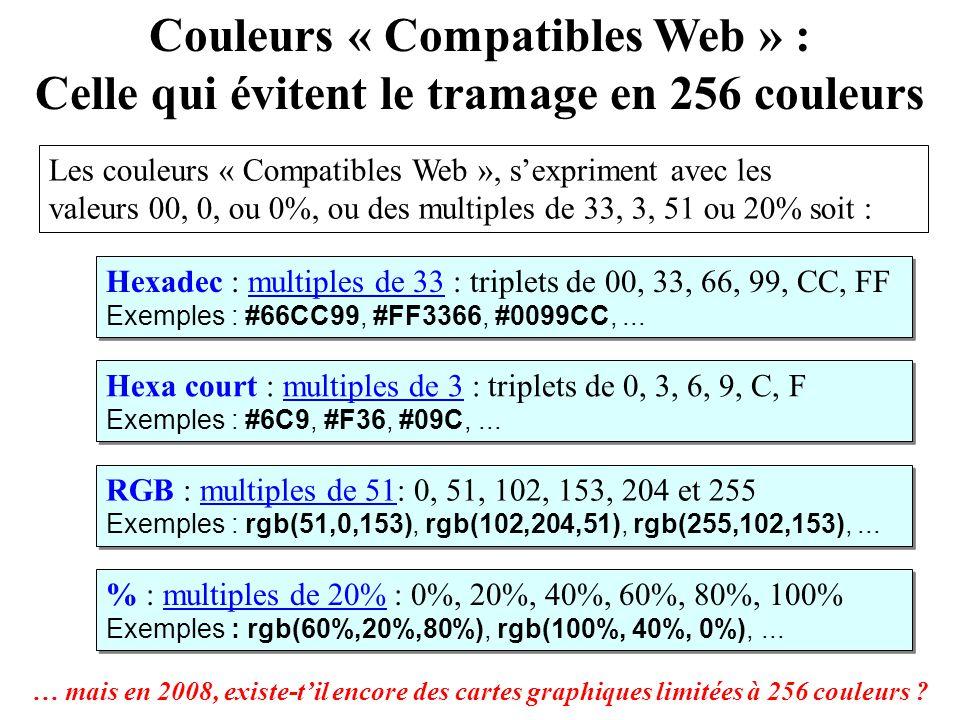 Couleurs « Compatibles Web » :