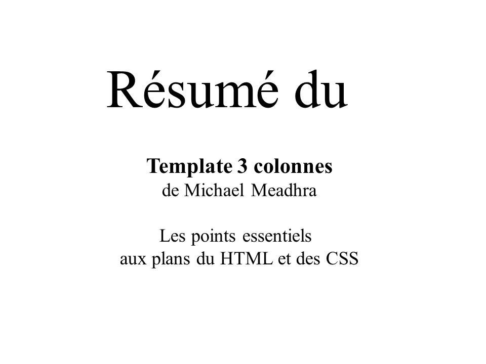 aux plans du HTML et des CSS
