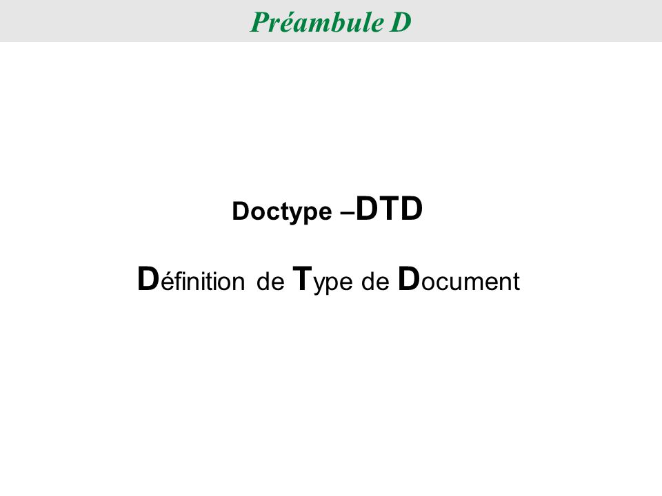 Définition de Type de Document