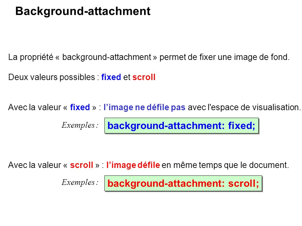 Background-attachment