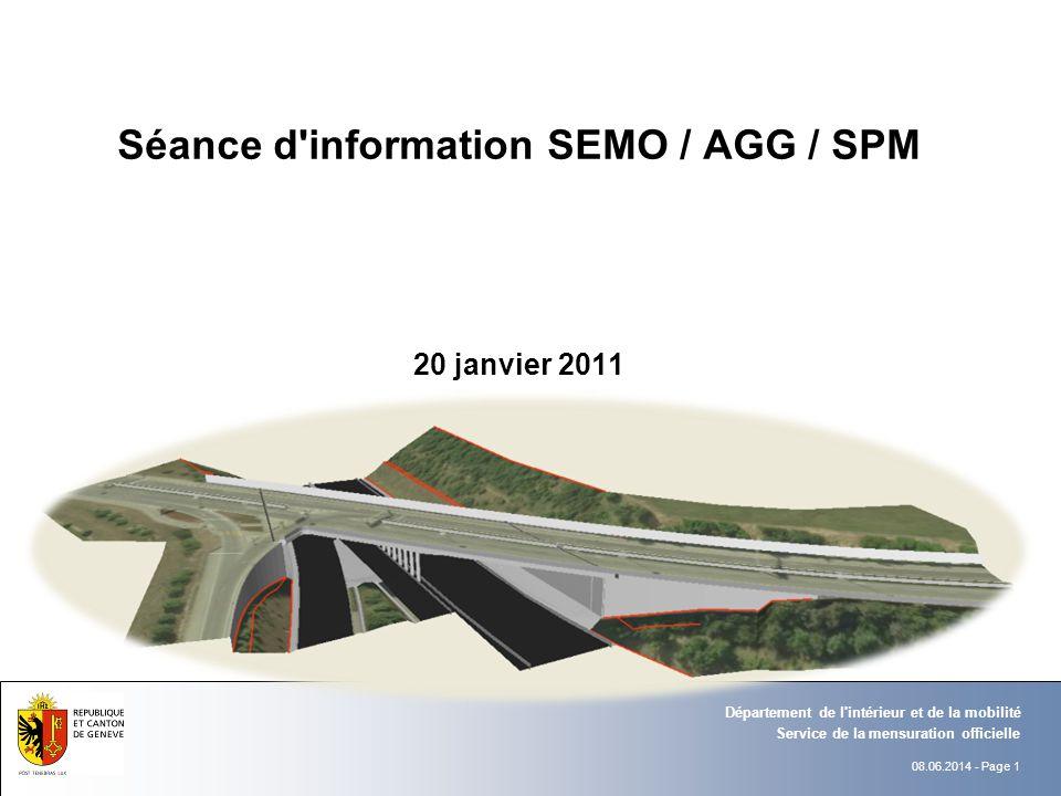 Séance d information SEMO / AGG / SPM 20 janvier 2011