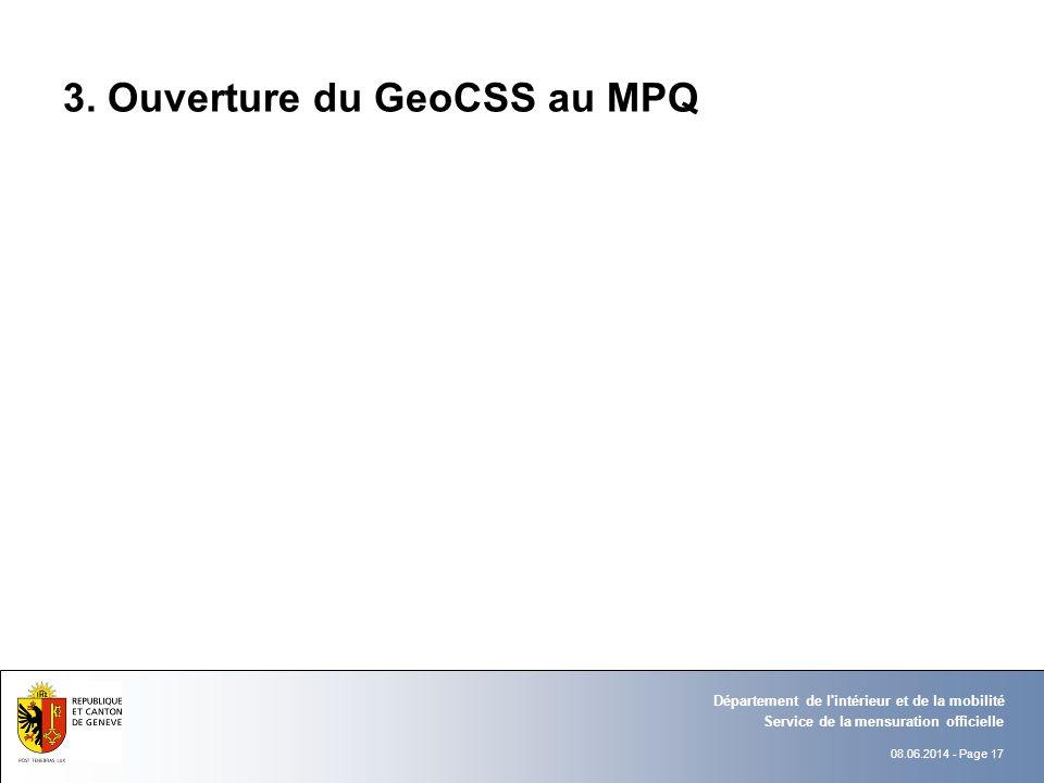 3. Ouverture du GeoCSS au MPQ
