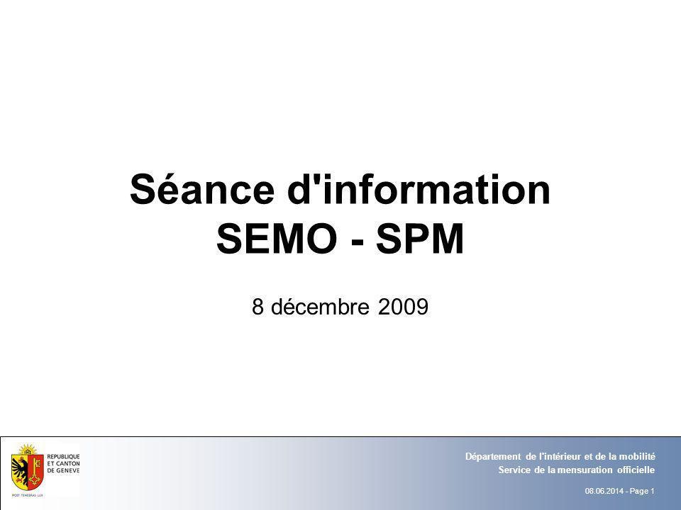 Séance d information SEMO - SPM