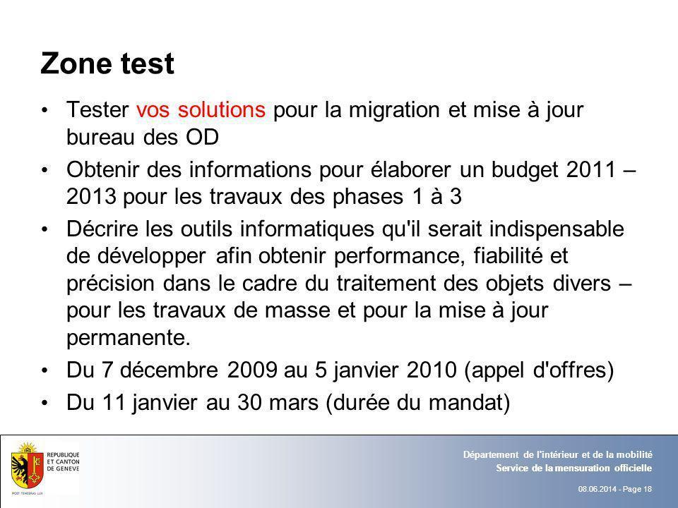 Zone test Tester vos solutions pour la migration et mise à jour bureau des OD.