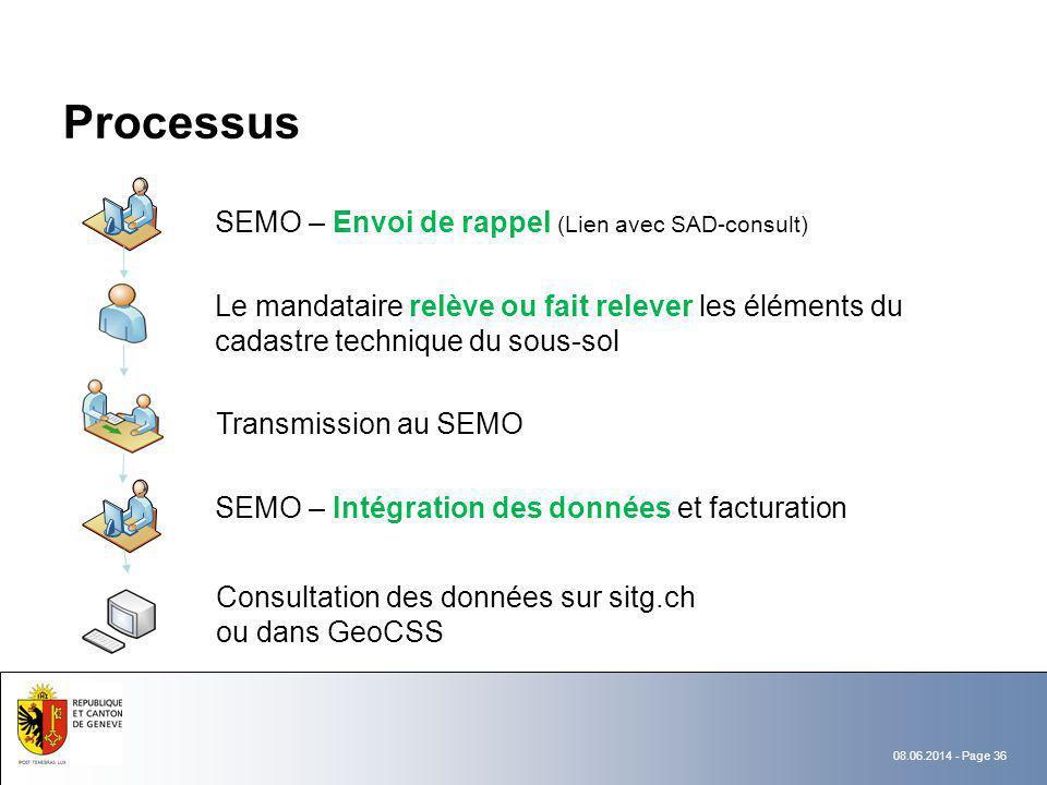 Processus SEMO – Envoi de rappel (Lien avec SAD-consult)