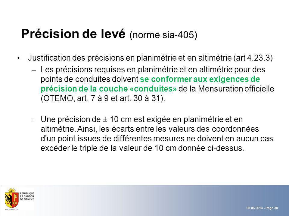 Précision de levé (norme sia-405)