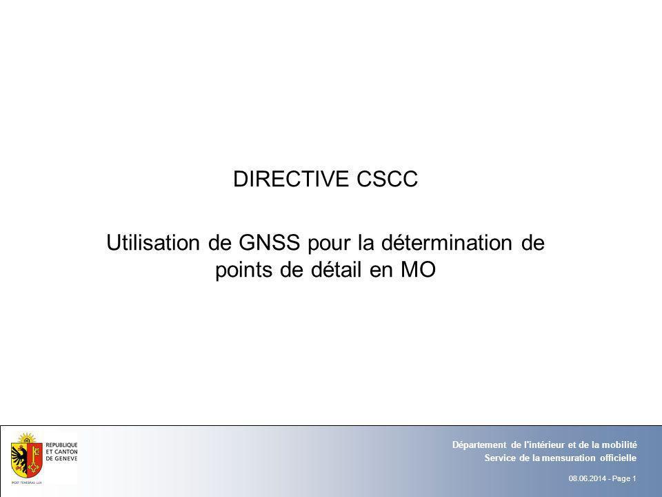 Utilisation de GNSS pour la détermination de points de détail en MO