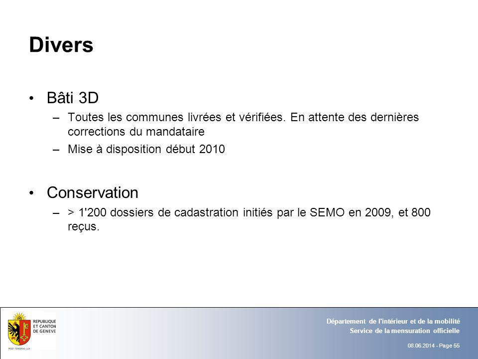 Divers Bâti 3D Conservation