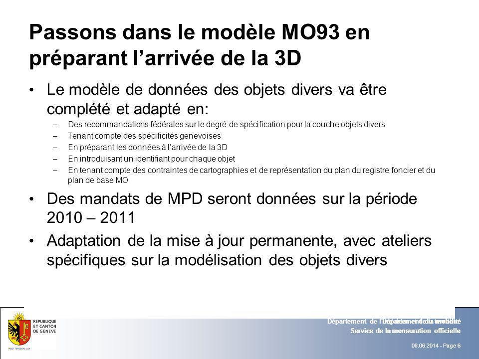 Passons dans le modèle MO93 en préparant l'arrivée de la 3D