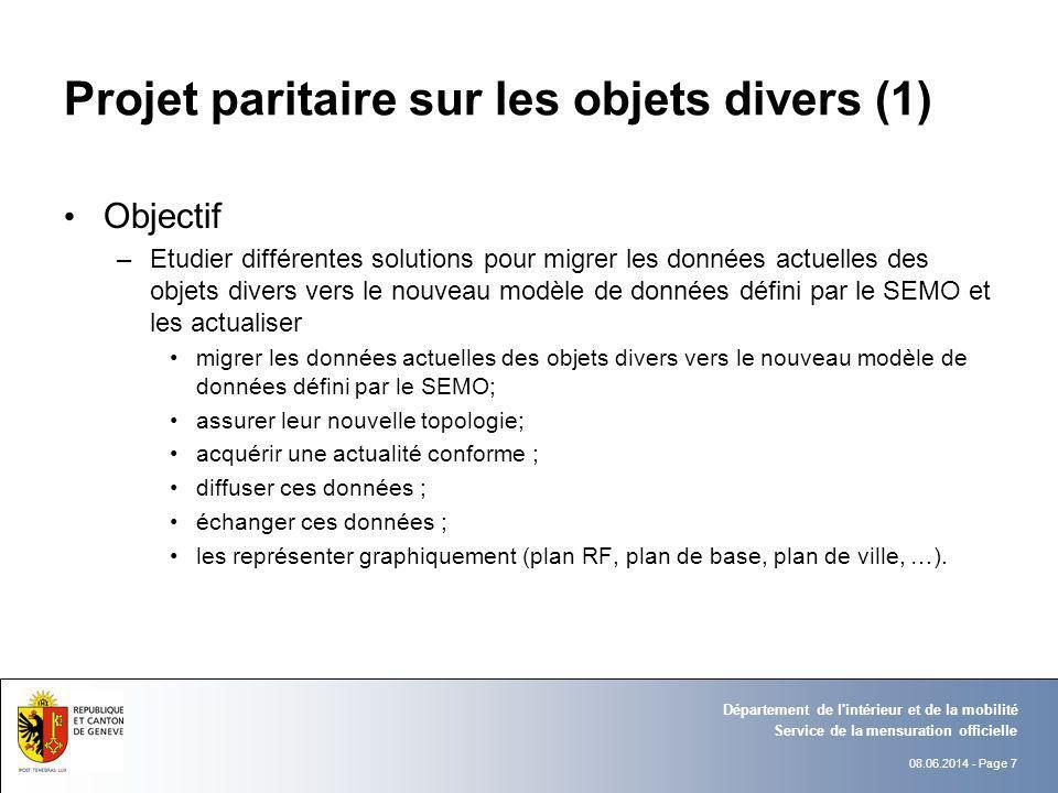 Projet paritaire sur les objets divers (1)