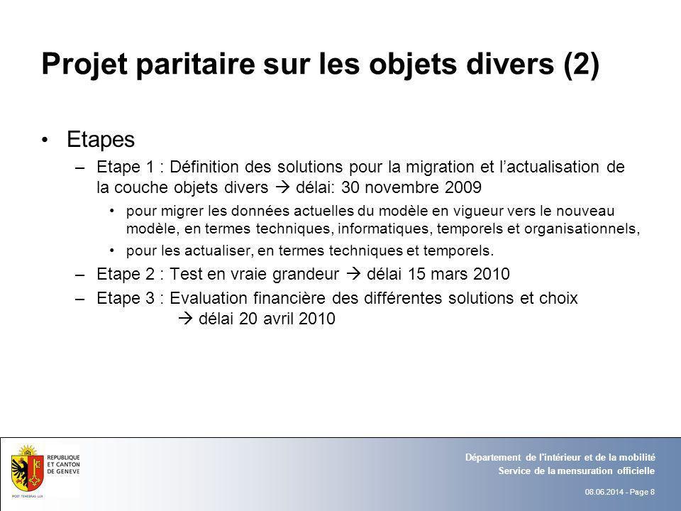 Projet paritaire sur les objets divers (2)