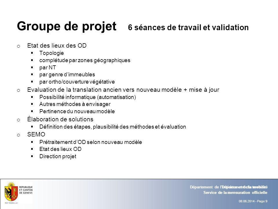 Groupe de projet 6 séances de travail et validation