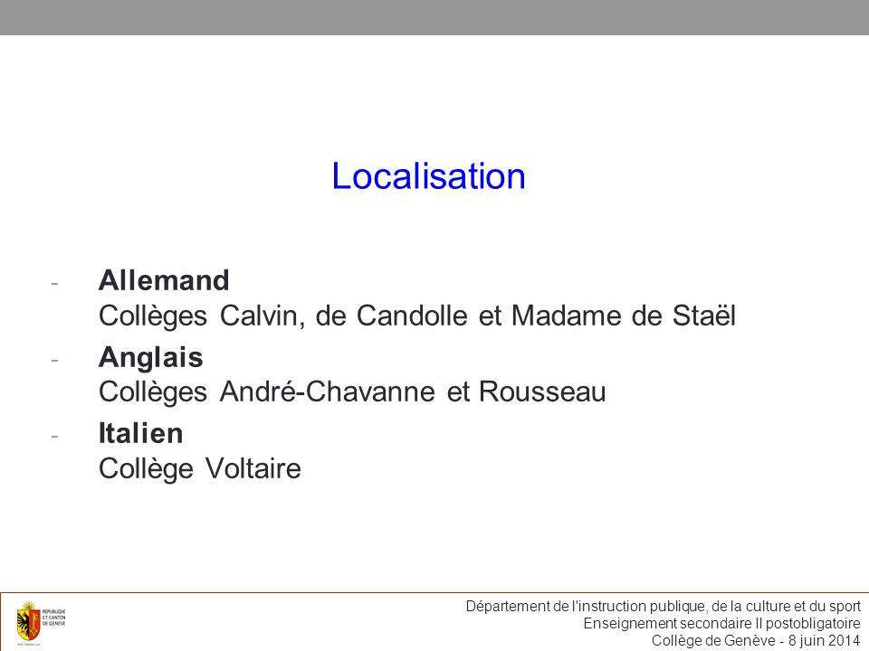 Localisation Allemand Collèges Calvin, de Candolle et Madame de Staël
