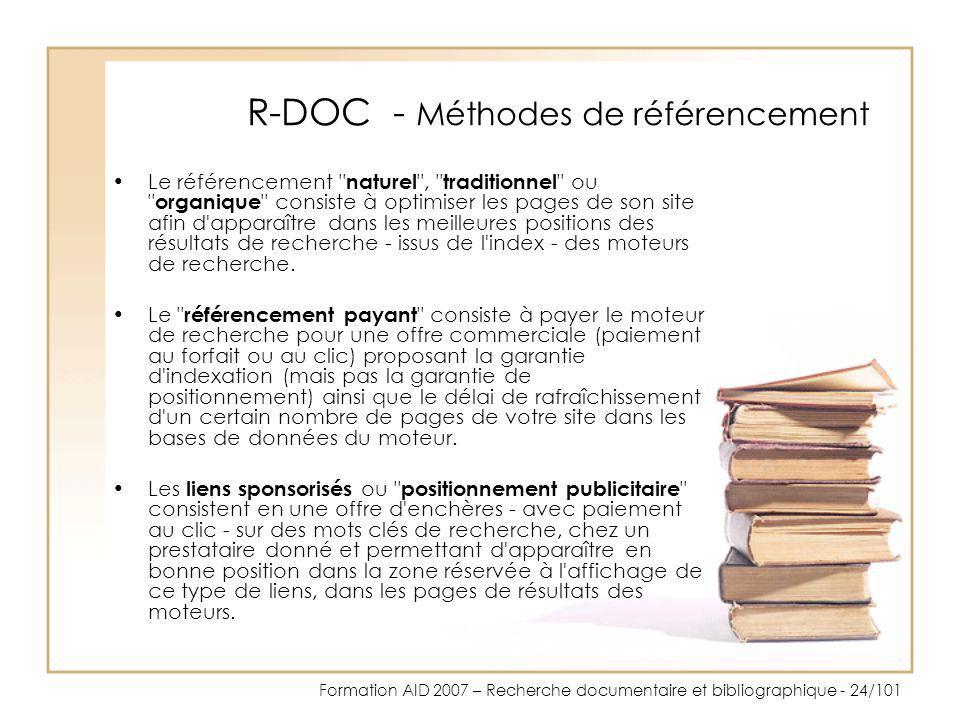 R-DOC - Méthodes de référencement