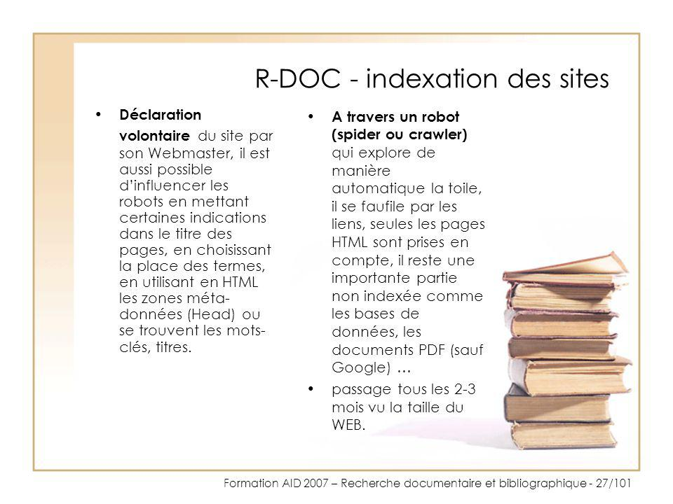 R-DOC - indexation des sites