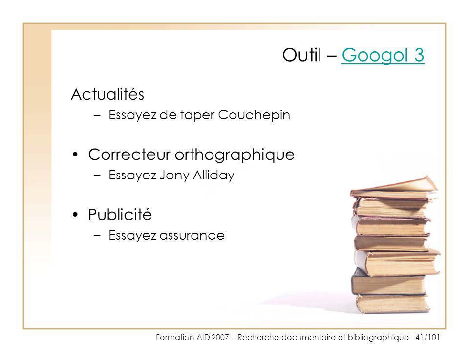 Outil – Googol 3 Actualités Correcteur orthographique Publicité